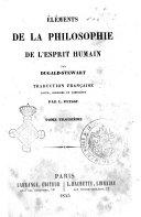 Elements de la philosophie de l'esprit humain par Dugald Stewart