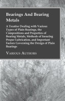Pdf Bearings And Bearing Metals