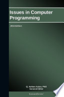 Issues in Computer Programming  2013 Edition