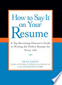 How to Say it on Your Resume Book