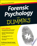 Forensic Psychology For Dummies Book PDF