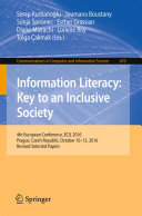 Information Literacy  Key to an Inclusive Society