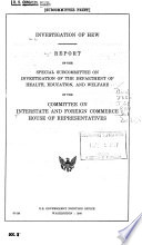 Report of the Committee on Interstate and Foreign Commerce  comprising a   Report of the Securities and Exchange Commission on the Public Policy Implications of Investment Company Growth