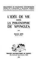 L'idée de vie dans la philosophie de Spinoza