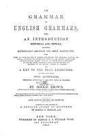The Grammar of English Grammars, with an Introduction Historical and Critical