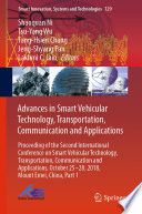 Advances in Smart Vehicular Technology  Transportation  Communication and Applications