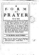 Pdf A form of prayer to be used ... on Wednesday the fifth day of April; being the fast-day appointed by proclamation