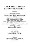 The United States Patents Quarterly