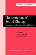 Pdf The Initiation of Sound Change