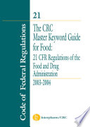 The Crc Master Keyword Guide For Food Book PDF