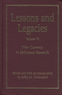 Lessons And Legacies Vi