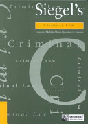 Criminal Law: Essay and Multiple-Choice Questions and Answers