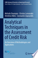 Analytical Techniques in the Assessment of Credit Risk Book