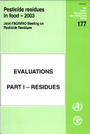 Pesticide Residues in Food   2003