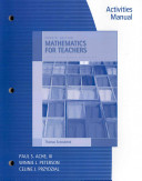 Activities Manual for Sonnabend S Mathematics for Elementary Teachers  4th