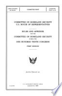 Committee on Homeland Security, U.S. House of Representatives..., February 2007, 110-1 Committee Print 110-A