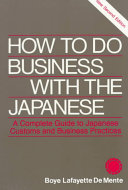 How to Do Business with the Japanese Pdf/ePub eBook