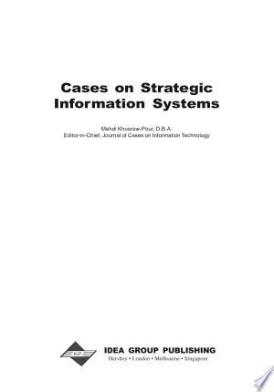 Download Cases on Strategic Information Systems online Books - godinez books