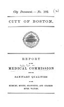 Report ... upon the Sanitary Qualities of the Sudbury, Mystic, Shawshine, and Charles River Waters