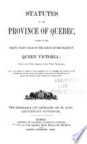 Statutes of the Province of Québec