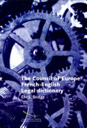 The Council of Europe French English Legal Dictionary
