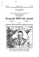 Roosevelt Wild Life Annals of the Roosevelt Wild Life Forest Experiment Station of the New York State College of Forestry at Syracuse University