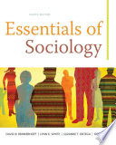 Cover of Essentials of Sociology