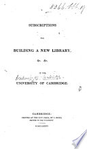 Subscriptions for Building a New Library in the University of Cambridge