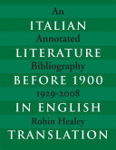 Pdf Italian Literature before 1900 in English Translation
