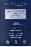 Pdf The Management of Values