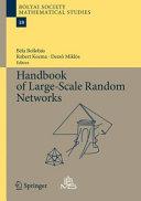 Handbook of Large-Scale Random Networks Pdf/ePub eBook