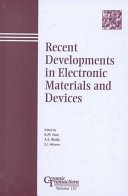 Recent Developments in Electronic Materials and Devices