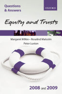 Equity and Trusts 2008 and 2009