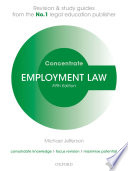 Employment Law Concentrate  : Law Revision and Study Guide