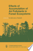 Effects of Accumulation of Air Pollutants in Forest Ecosystems