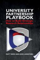 The University Partnership Playbook Book