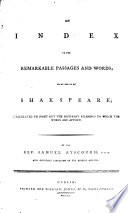 Shakspeare s Dramatic Works Book