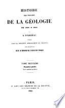 Histoire des progrès de la géologie de 1834 à [1859]: pt. 1. Terrain quaternaire ou diluvien. pt. 2. Terrain tertiaire