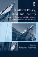 Cultural Policy  Work and Identity