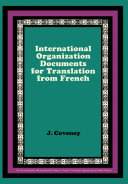 International Organization Documents for Translation from French