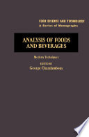 Analysis Of Foods And Beverages Book PDF