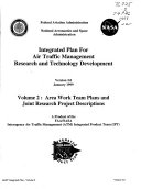 Integrated Plan for Air Traffic Management Research and Technology Development