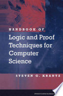 Handbook Of Logic And Proof Techniques For Computer Science Book PDF