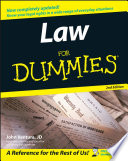 Law For Dummies Book