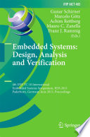 Embedded Systems  Design  Analysis and Verification