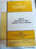 Algebra, Mathematical Logic, Number Theory, Topology
