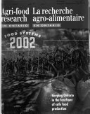 Agri Food Research In Ontario Book PDF
