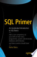 book cover: SQL primer : an accelerated introduction to SQL basics