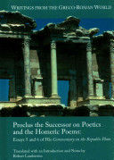 Proclus the Successor on Poetics and the Homeric Poems
