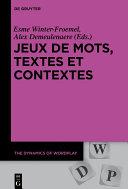 Pdf Jeux de mots, textes et contextes Telecharger